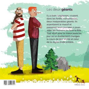 Couverture de l'album jeunesse les 2 géants du Morvan