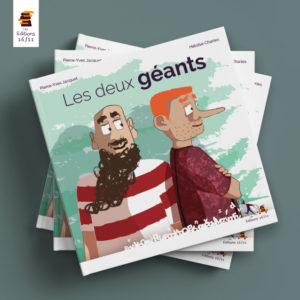Mockups Design Les deux géants - Livre jeunesse